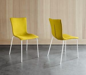 COVER, Modern Chair, available in various colors, for hotel