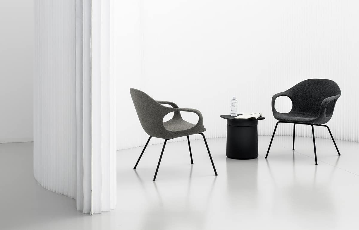 Elephant Lounge, Chair with armrests covered in Kvadrat fabric