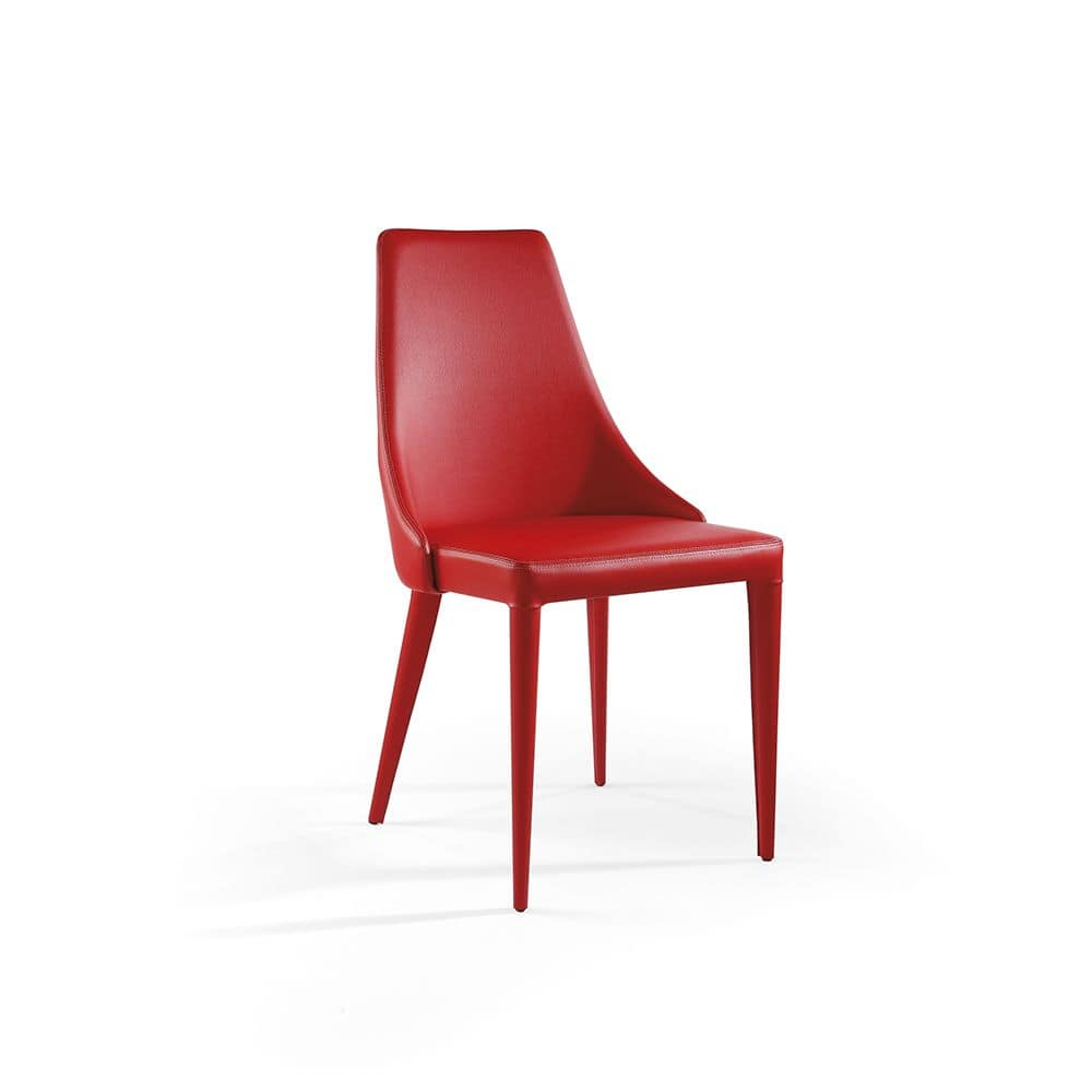 Evelin, Modern chair with padded seat