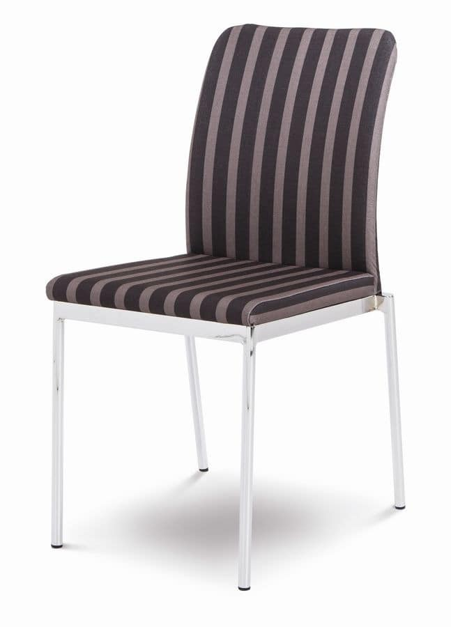 Evosa 08/2, Modern chair for kitchen, stacking chair for bar