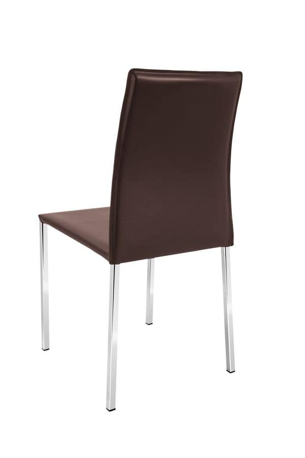 Follina chrome, Leather chair suited for restaurants or bars