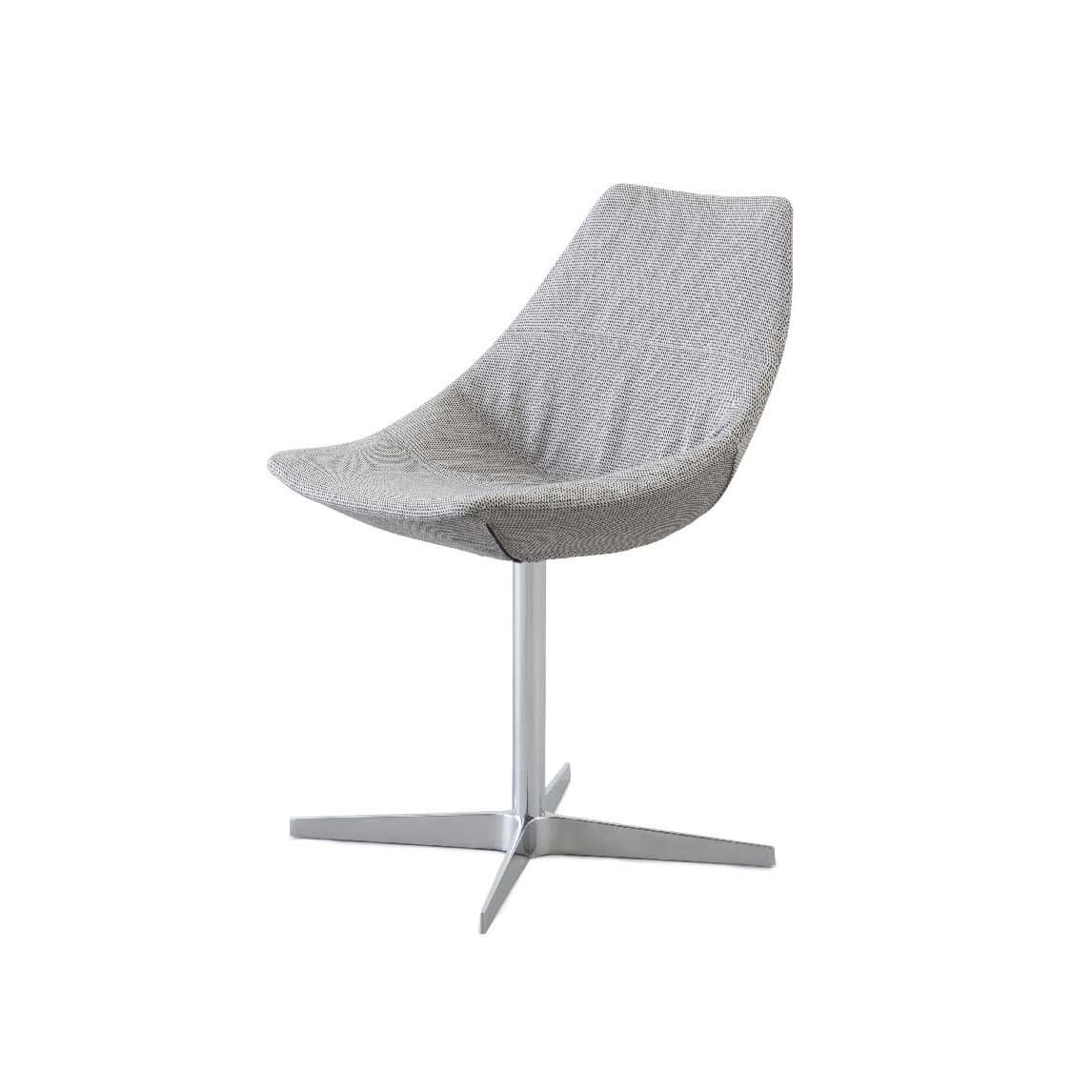 Gamma swivel, Swivel chair with base made of metal