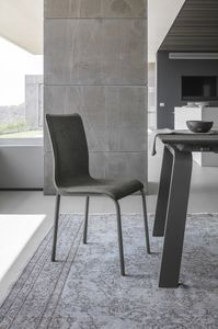 GLAMOUR NEW SE199, Chair with metal legs