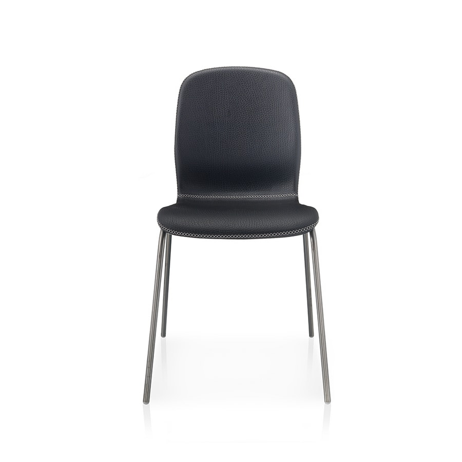 Glamour Up, Upholstered chair with metal legs