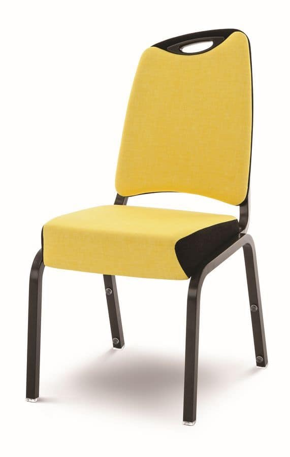 Inicio 09/2H, Llightweight chair, fireproof, with handle, stackable