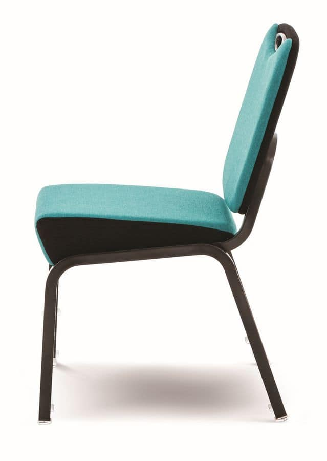 Inicio 09/4H, Chair with fire retardant padding, stackable, for conference rooms