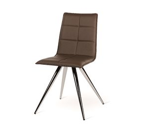 Iris-M, Modern chair with metal base