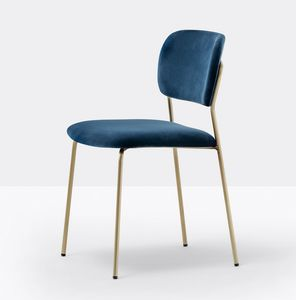 Jazz, Padded chair with light steel structure