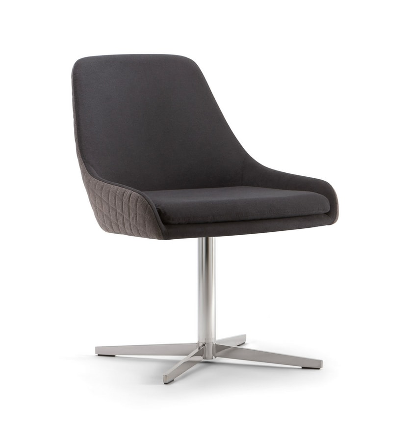 JO CHAIR 058 S X, Upholstered chair, with cross base