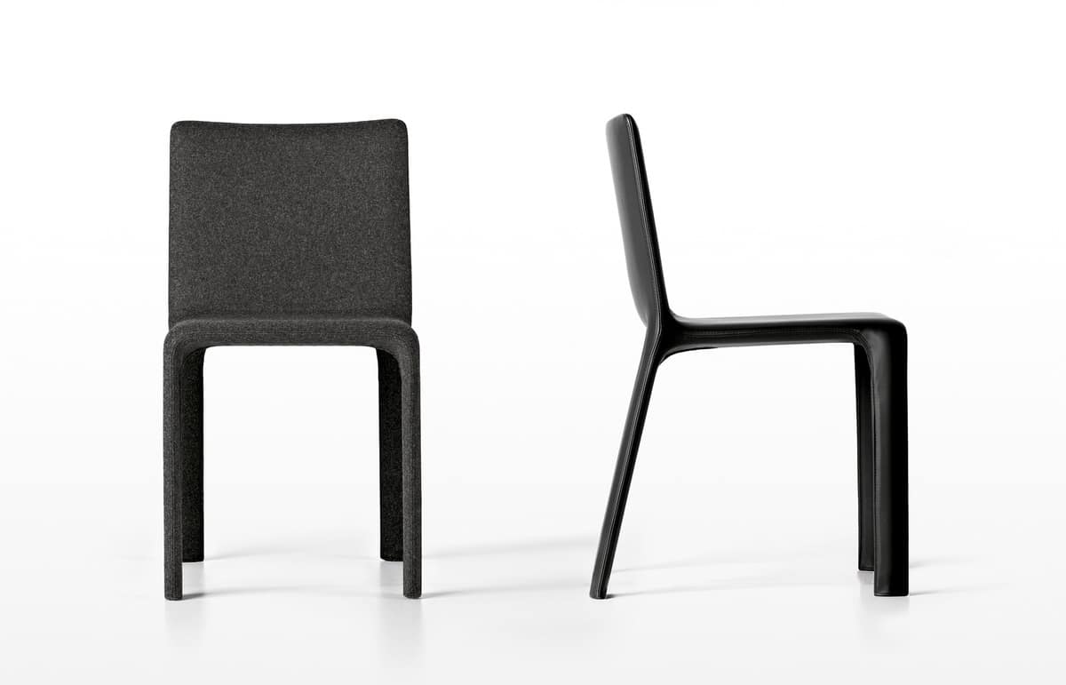 Joko, Padded chair, fully upholstered in fabric