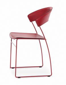 Juliette, Very light metal chair, also suitable for outdoor use