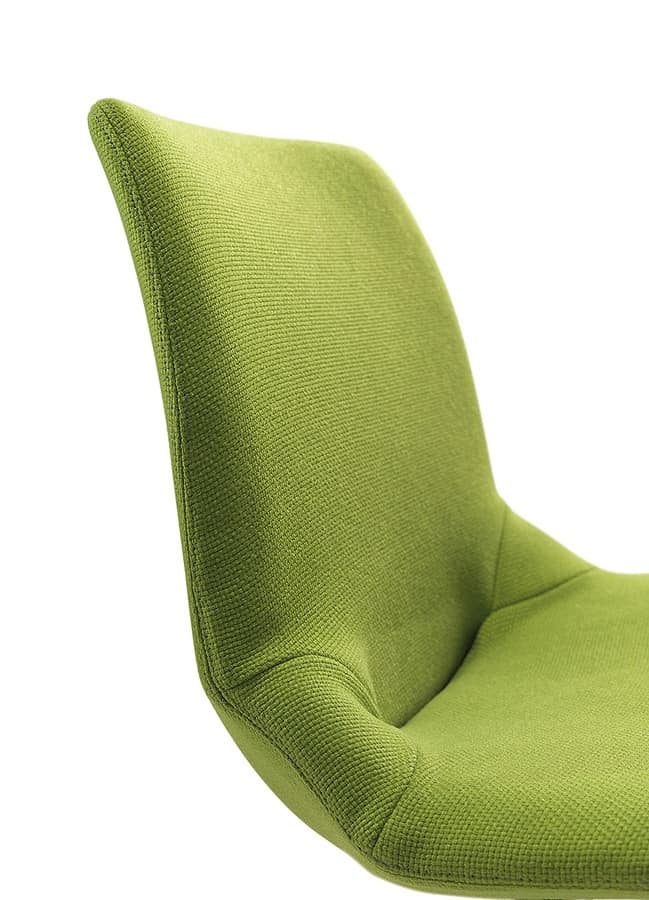 Kaleidos fabric, Metal upholstered chair, in various colors