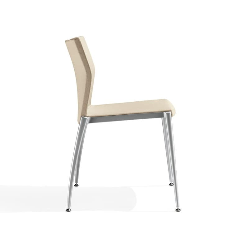 Kalla, Linear chair with aluminum structure