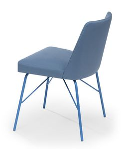 Kate metal, Chair with legs that can be matched with the chosen fabric color