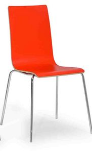 Lilly, Modern chair with metal legs