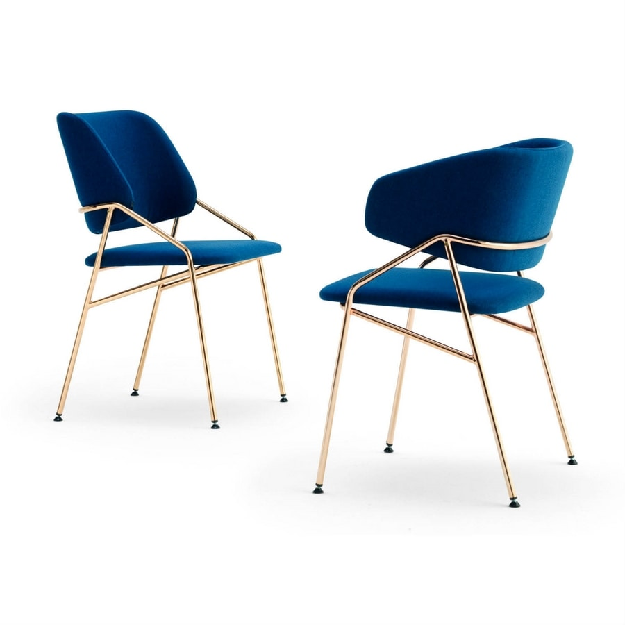 Line, Metal chair, with padding