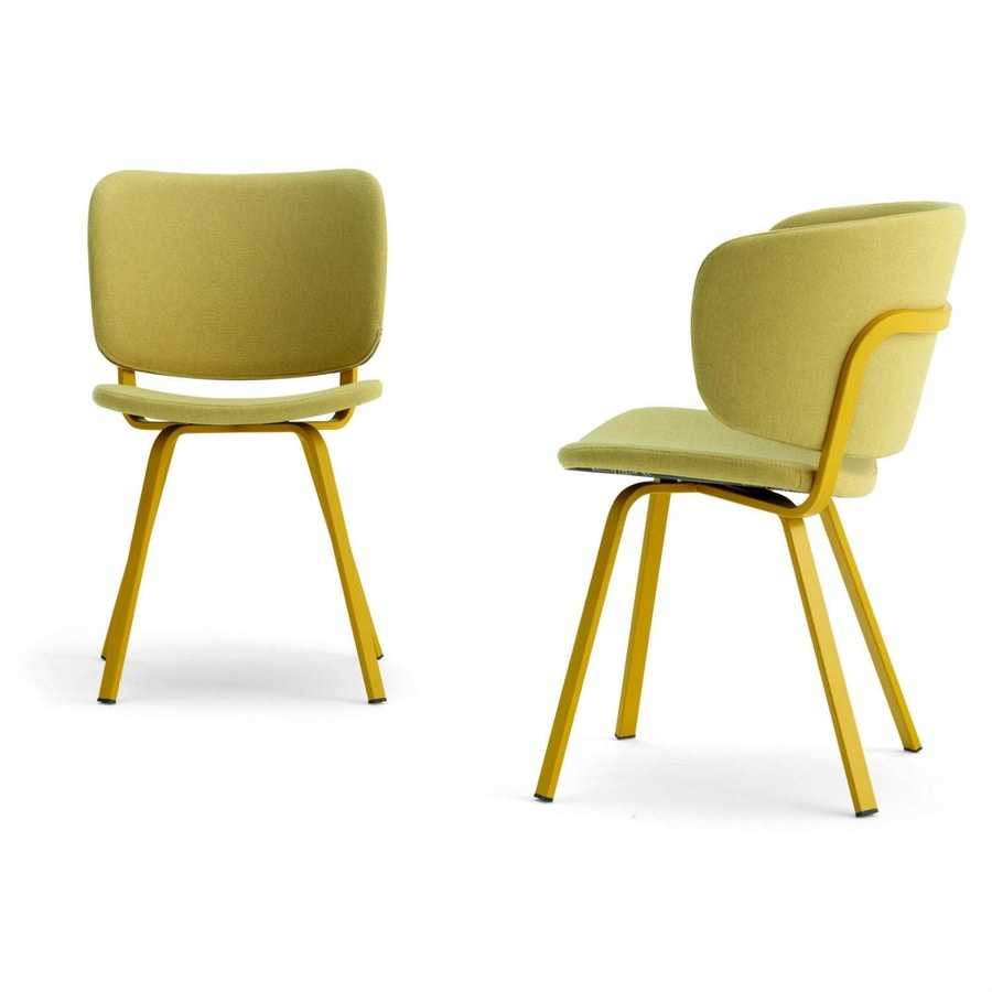 Lola, Modern chair with painted legs