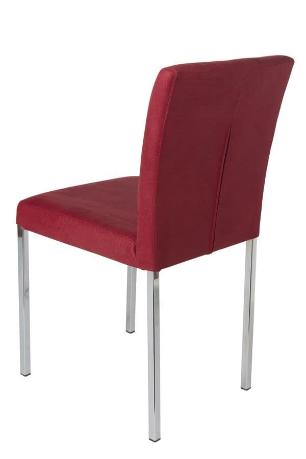 Vidor, Removable lining chair with metal legs for bars