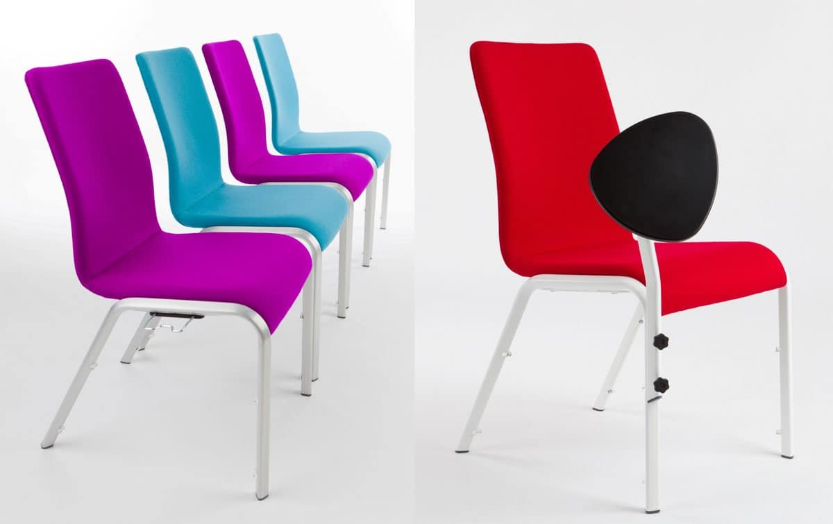 Mendola 07/1, Comfortable chair for bars, aluminum structure, anatomic