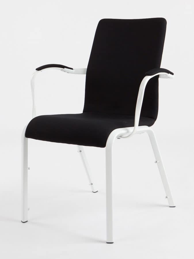 Mendola 07/1A, Upholstered chair, with ProBax technology, for conference
