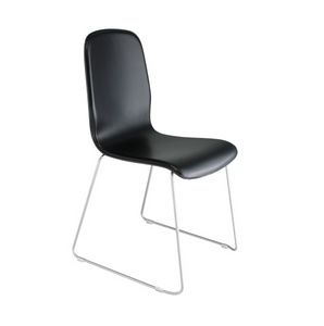 Milù Sled Up, Upholstered chair with sled base