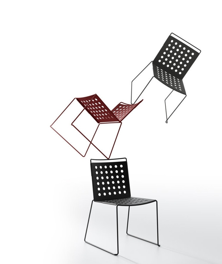 Multi Buco, Outdoor chair, light, in aluminum and steel