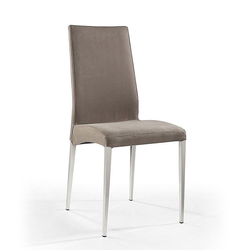 Regina, Chair in metal coated leather, for reception and bar