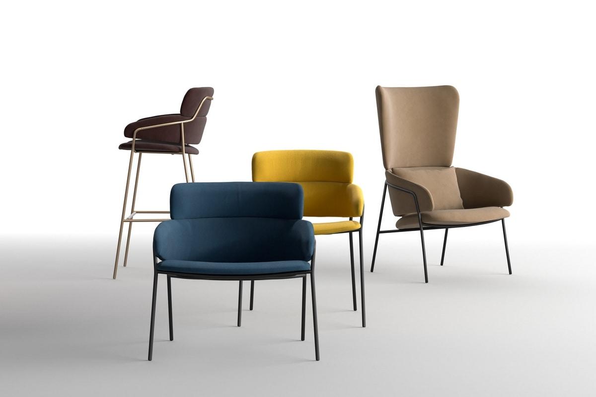 Strike, Modern chair for bars, various certificates coatings