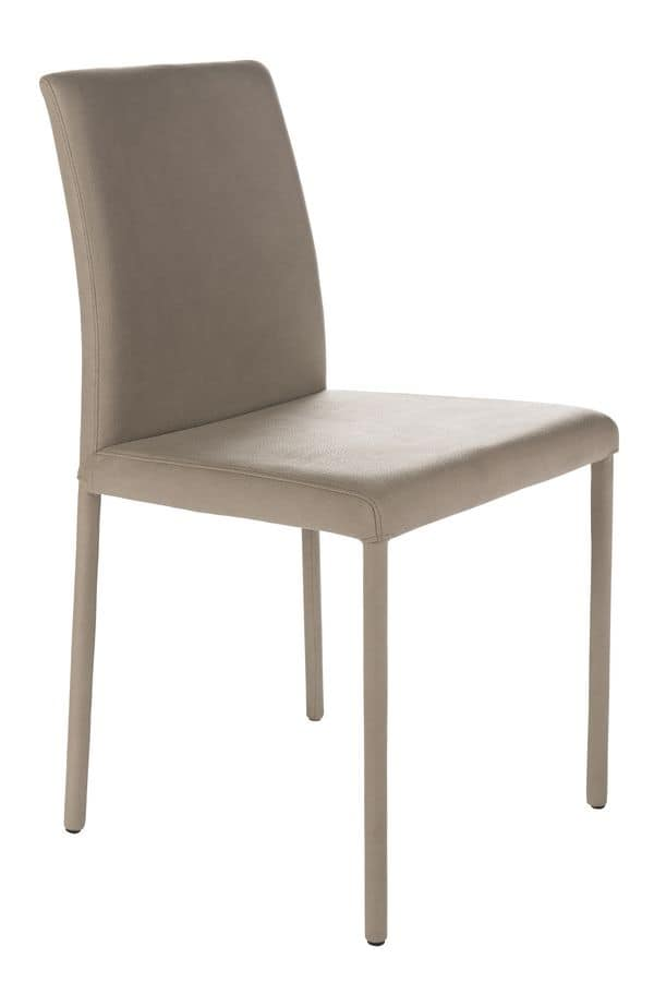 Treviso low, Chair with low back for kitchens