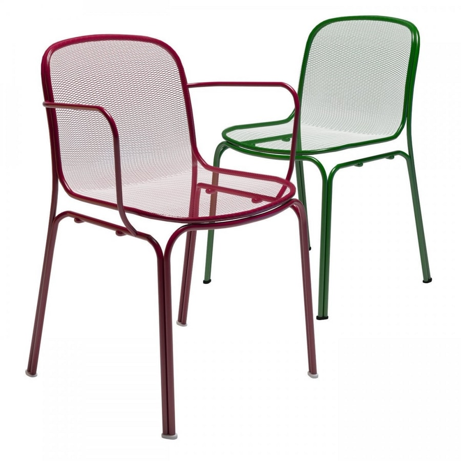 Villa, Chair made entirely of metal, for outdoor use