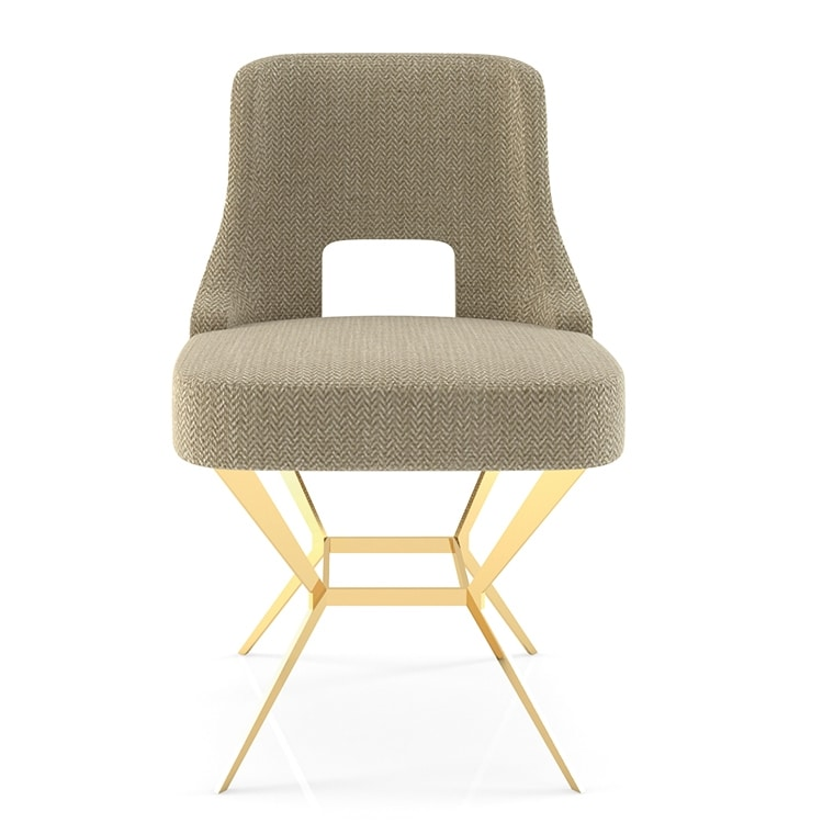 Virginia, Dining chair with geometric base