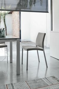 ZARA SE171, Metal chair with upholstered seat and back suited for bars