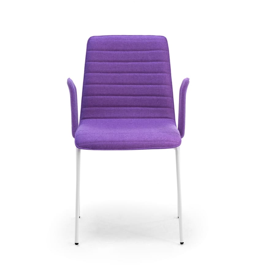 Zerosedici, Upholstered chair with armrests, comfortable and enveloping