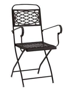 Isa/P, Folding steel armchair, several colours, for garden
