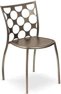Julie cerchi, Metal chair, backrest with circular holes