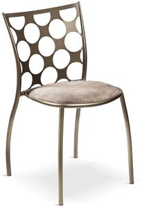Julie cerchi with padded seat, Metal chair with padded seat