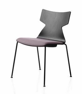 Kimbox Wood, Stackable chair with metal legs