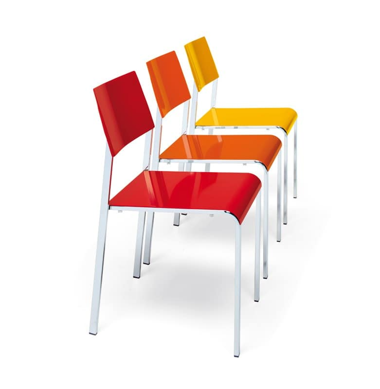 Margherita, Metal chair, stackable, colorful, available for outdoors