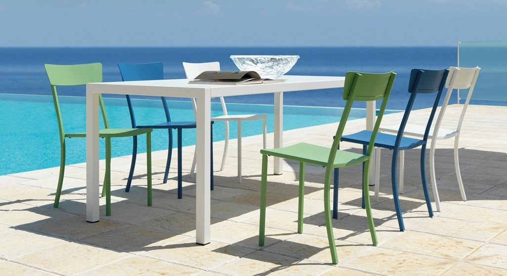 Mogan, Outdoor stacking chair, in galvanized metal