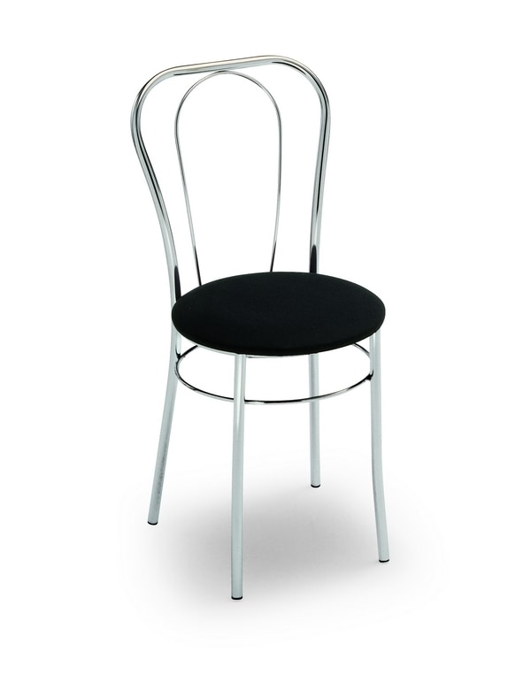 Sara, Chair for bars and ice-cream parlors, with round seat