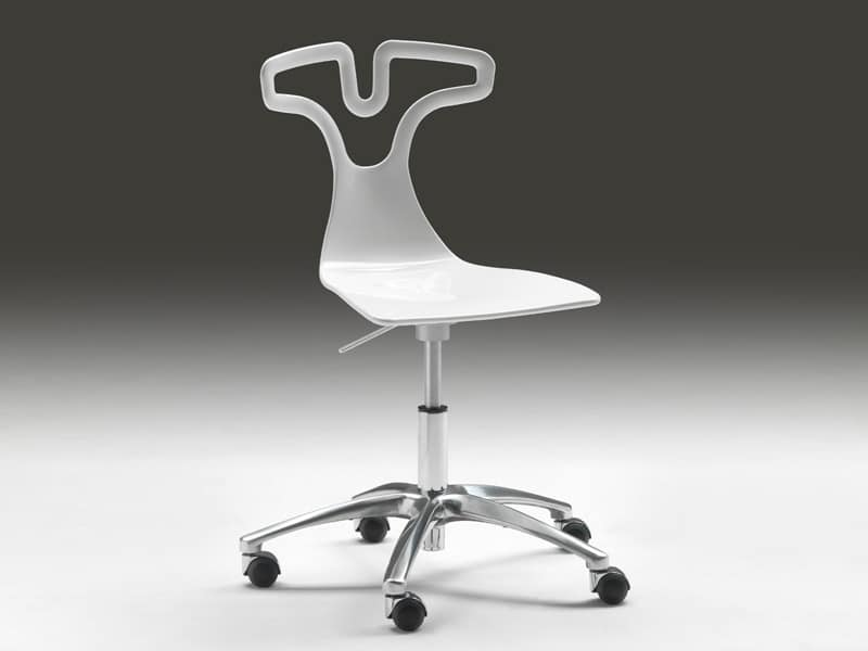 T-shirt 2, Swivel chair on wheels, seat with adjustable height