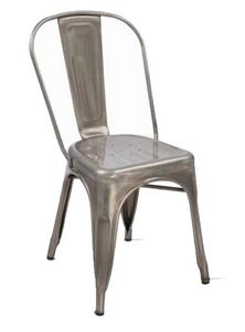Twix, Stackable chair in galvanized metal