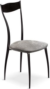 Vilma New chair, Metal chair with padded seat