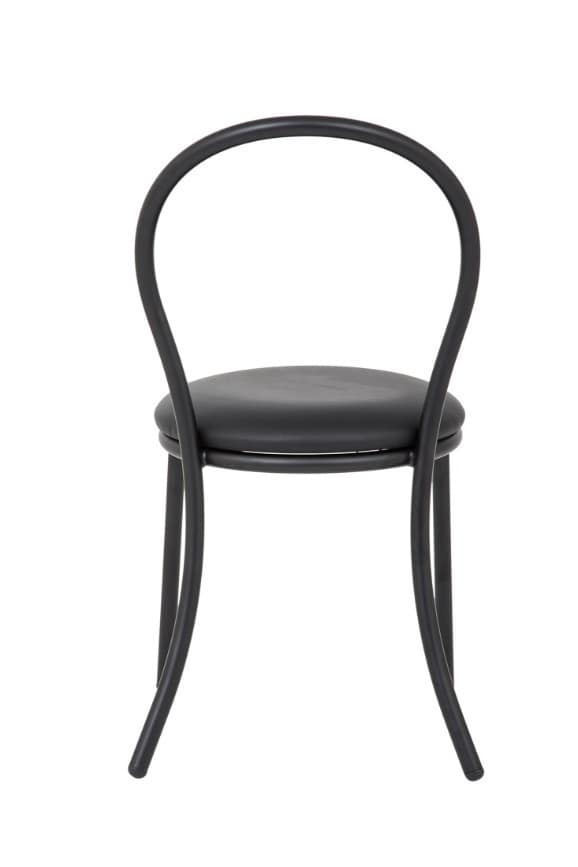 Art.Kris, Chair in curved metal, upholstered round seat