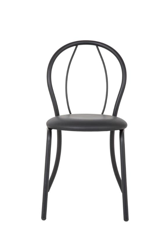 Art.Kris 2, Chair in painted and curved metal, for contract use