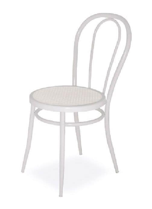 SE 020, Simple chairs in curved metal, for Kitchen