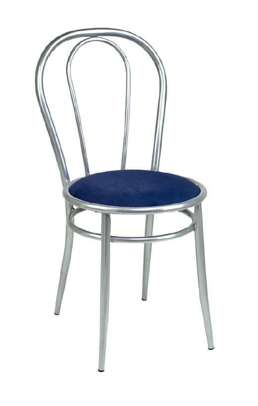 SE 025, Basic metal chair, upholstered seat, for bar snacks