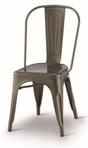 SE 500 / INT, Painted metal chair, stackable, for restaurants