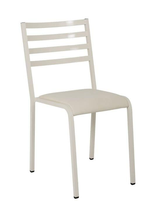 Art.Macrì Indoor chair, Metal chair for home and contract use