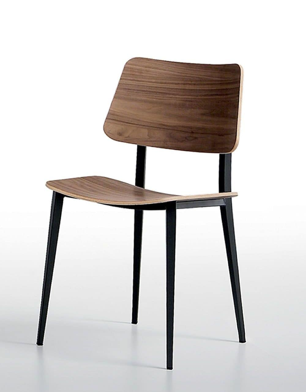 Joe Chair Made Of Metal And Wood For Kitchens Living